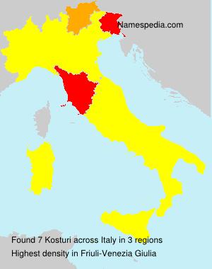 Surname Kosturi in Italy