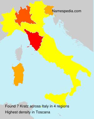 Familiennamen Kratz - Italy