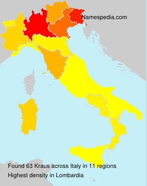 Surname Kraus in Italy