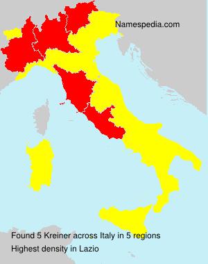 Surname Kreiner in Italy