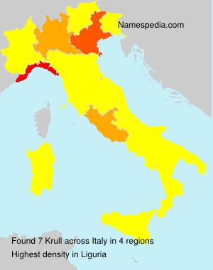 Surname Krull in Italy