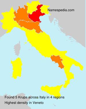 Surname Krupa in Italy