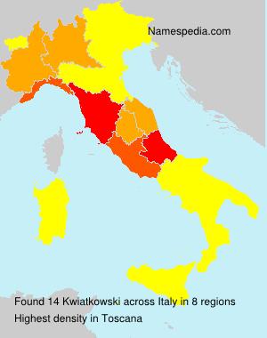Surname Kwiatkowski in Italy