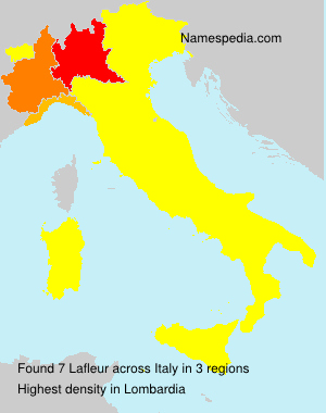 Surname Lafleur in Italy