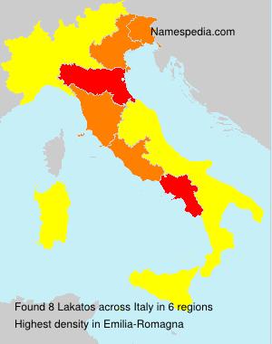Surname Lakatos in Italy