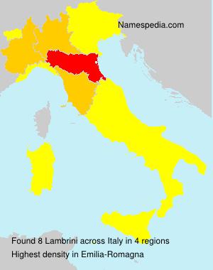 Familiennamen Lambrini - Italy