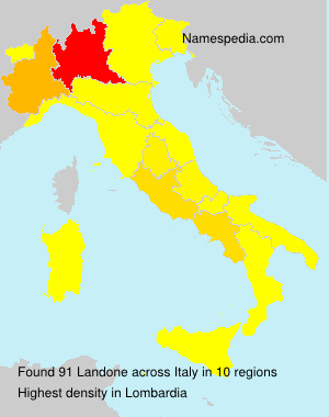 Surname Landone in Italy
