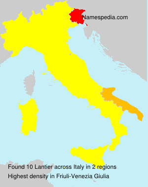 Surname Lantier in Italy