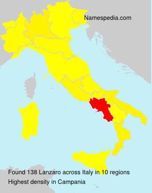 Surname Lanzaro in Italy