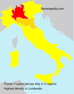 Surname Lariani in Italy