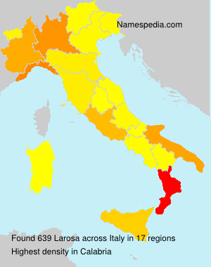 Familiennamen Larosa - Italy