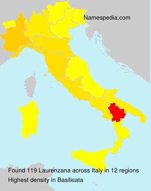 Surname Laurenzana in Italy