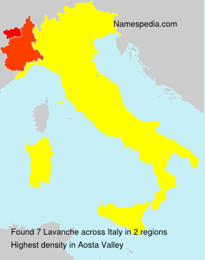 Surname Lavanche in Italy