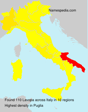Surname Lavopa in Italy
