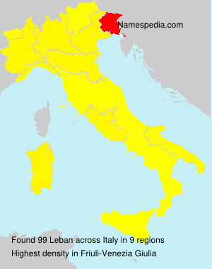 Surname Leban in Italy