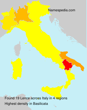 Surname Lence in Italy