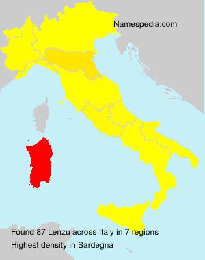 Familiennamen Lenzu - Italy