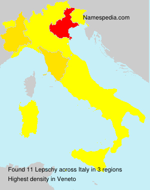 Surname Lepschy in Italy