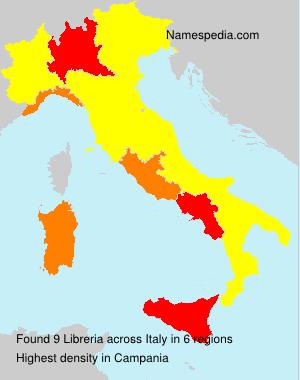 Surname Libreria in Italy