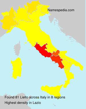 Familiennamen Liello - Italy