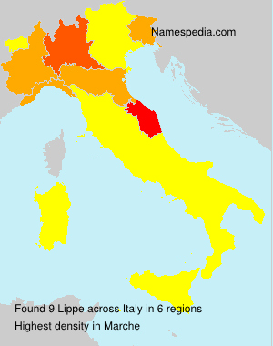 Surname Lippe in Italy