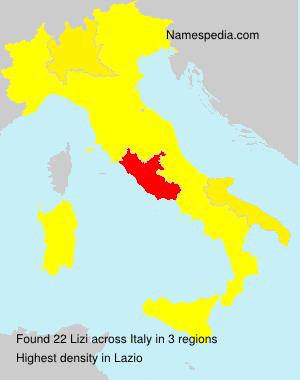 Surname Lizi in Italy