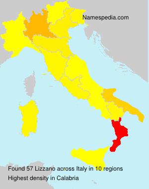 Familiennamen Lizzano - Italy