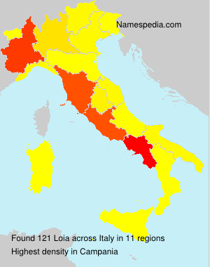 Surname Loia in Italy