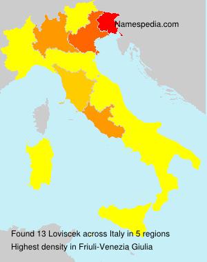 Surname Loviscek in Italy