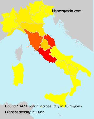 Surname Lucarini in Italy