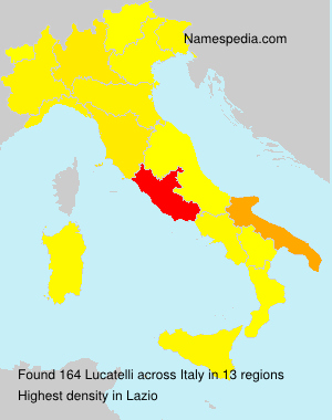 Surname Lucatelli in Italy