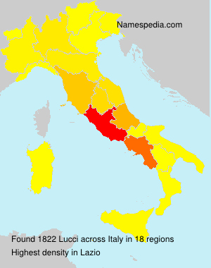 Surname Lucci in Italy