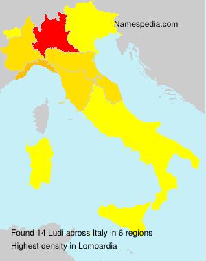 Surname Ludi in Italy