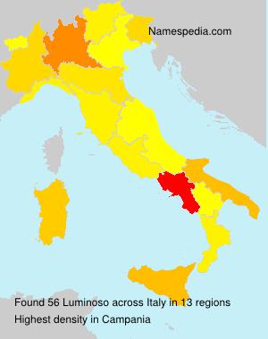 Familiennamen Luminoso - Italy