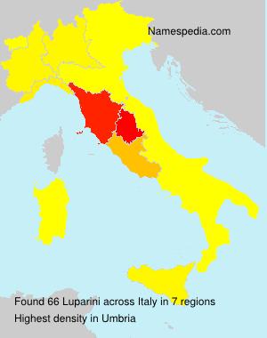Surname Luparini in Italy