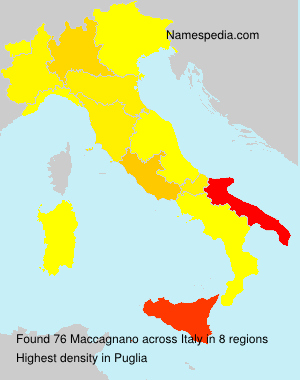 Surname Maccagnano in Italy