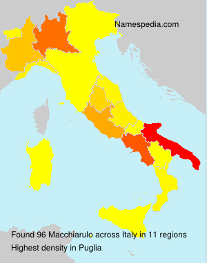 Surname Macchiarulo in Italy