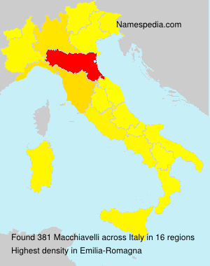 Surname Macchiavelli in Italy
