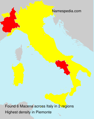 Familiennamen Macena - Italy