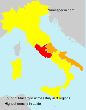 Surname Macerollo in Italy
