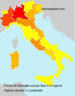 Familiennamen Machado - Italy