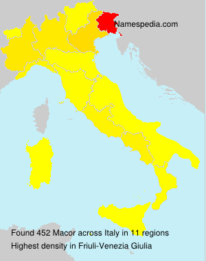 Surname Macor in Italy