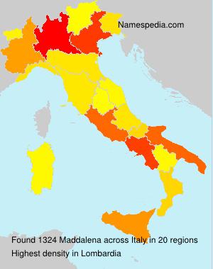 Surname Maddalena in Italy