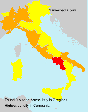 Surname Madrid in Italy