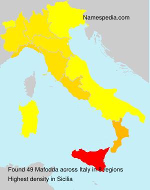 Surname Mafodda in Italy