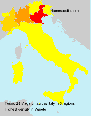Surname Magaton in Italy