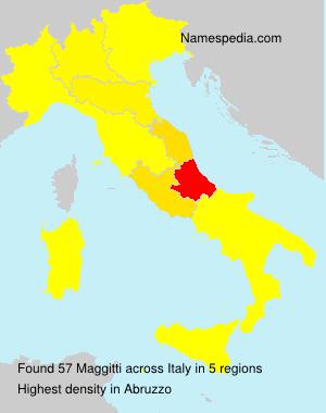 Familiennamen Maggitti - Italy