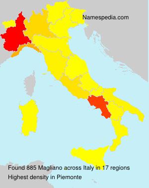 Familiennamen Magliano - Italy
