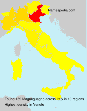 Surname Magnaguagno in Italy