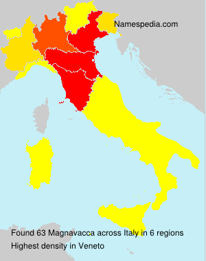 Surname Magnavacca in Italy